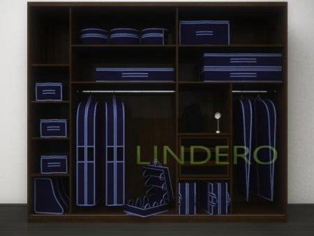 фото: Чехол для одежды большой, 60х130см (Синий) [1702]
