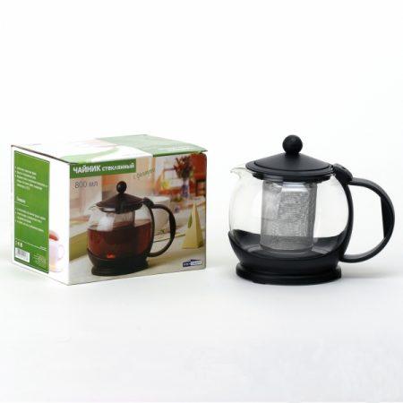 фото: Чайник стеклянный с фильтром металлическим 800мл [CN1222]