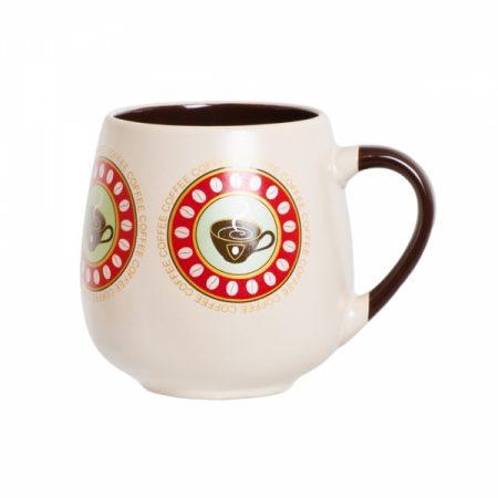 фото: Кружка керамическая бочонок кофе 500мл [CN1430]