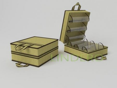 фото: Чемоданчик для хранения обуви на 6 пар, 35х40х20см (бежевый) [1413]