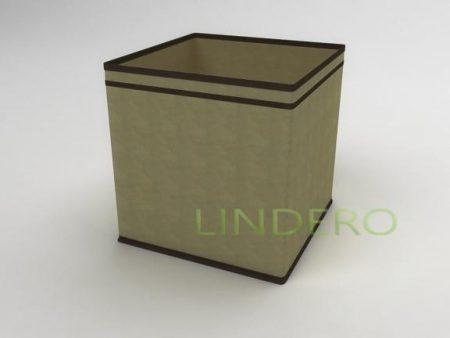 фото: Коробка – куб (жёсткий) 32х32х32см (бежевый) [1438]