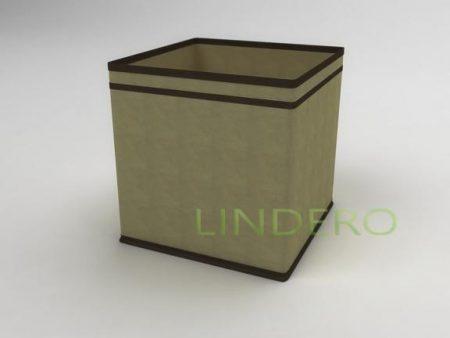 фото: Коробка – куб (жёсткий) 27х27х27см (бежевый) [1439]