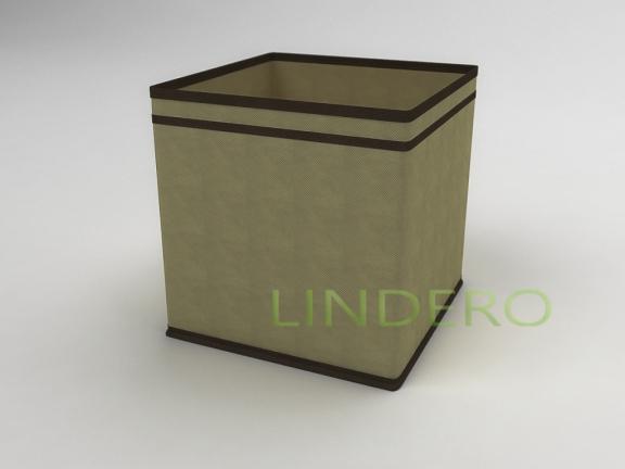 фото: Коробка — куб (жёсткий) 27х27х27см (бежевый) [1439]