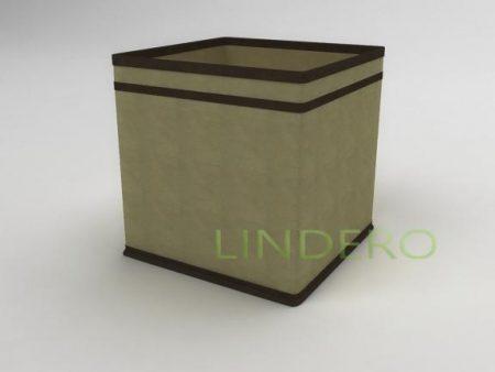 фото: Коробка – куб (жёсткий) 22х22х22см (бежевый) [1440]