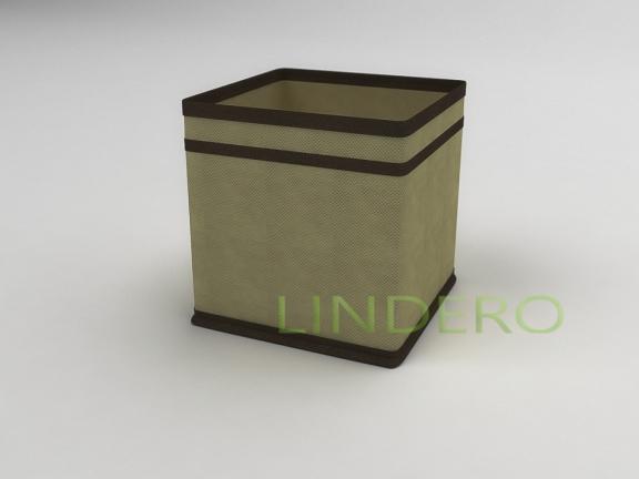 фото: Коробка — куб (жёсткий) 17х17х17см (бежевый) [1441]