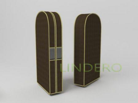 фото: Чехол двойной для одежды малый, 60х100х20см (коричневый) [1503]