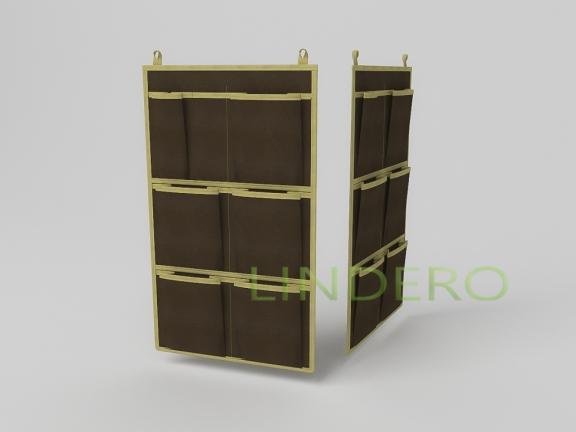 фото: Кофр для аксессуаров, 7 карманов, 35х60см (коричневый) [1508]