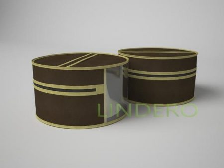 фото: Чехол для шапок, диаметр 35см (коричневый) [1516]