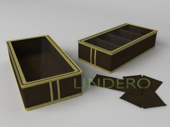 фото: Короб для обуви на 4 ячейки 26х52х12 (коричневый) [1534]