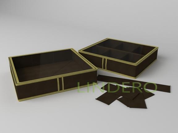 фото: Короб для обуви на 6 ячеек 56х52х12  (коричневый) [1537]