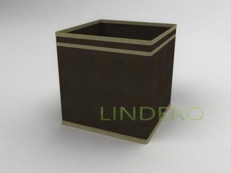 фото: Коробка – куб (жёсткий) 27х27х27см (коричневый) [1539]
