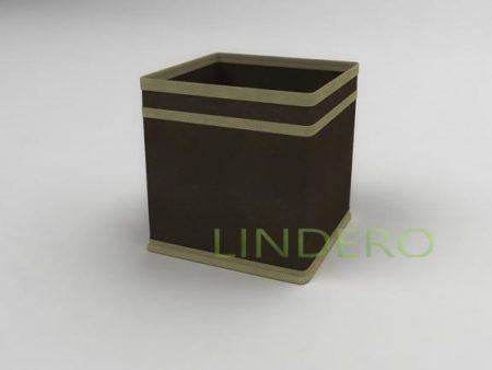 фото: Коробка – куб (жёсткий) 17х17х17см (коричневый) [1541]