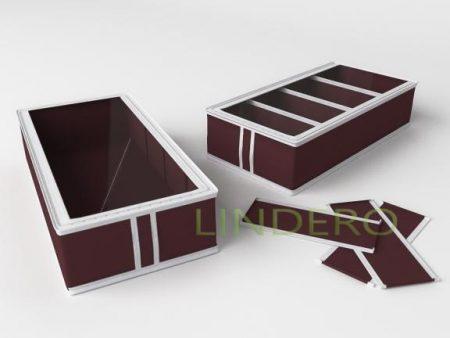 фото: Короб для обуви на 4 ячейки 26х52х12 (Бордовый) [1634]