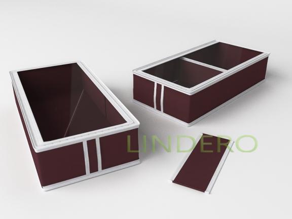 фото: Короб для сапог и полусапожек 26х52х12  (Бордовый) [1635]
