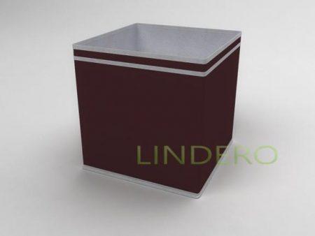 фото: Коробка – куб (жёсткий) 32х32х32см (Бордовый) [1638]