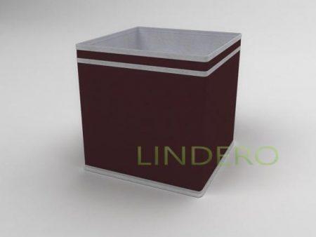 фото: Коробка – куб (жёсткий) 27х27х27см (Бордовый) [1639]