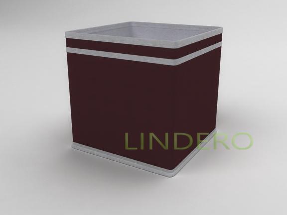 фото: Коробка — куб (жёсткий) 22х22х22см (Бордовый) [1640]