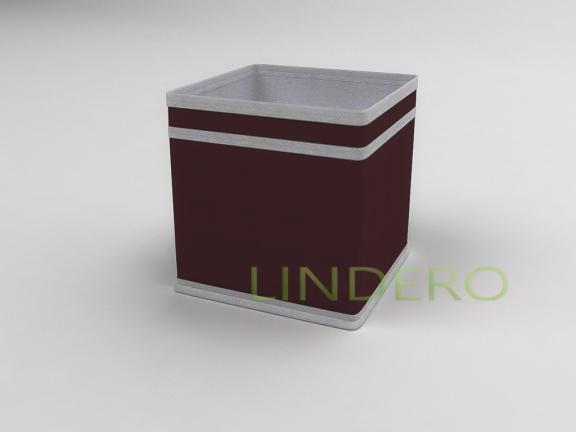 фото: Коробка — куб (жёсткий) 17х17х17см (Бордовый) [1641]