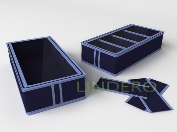 фото: Короб для обуви на 4 ячейки 26х52х12 (Синий) [1734]