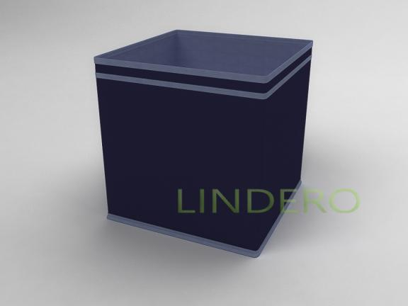 фото: Коробка — куб (жёсткий) 32х32х32см (Синий) [1738]