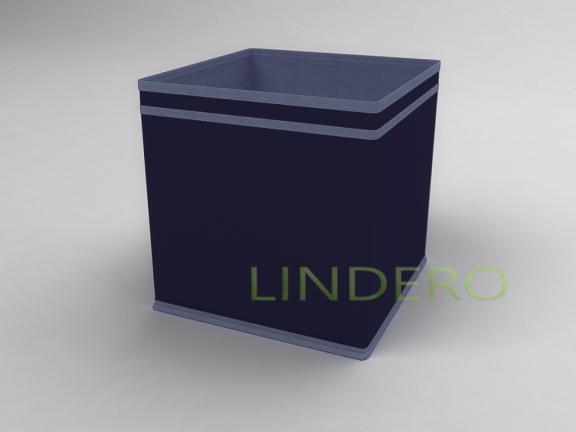 фото: Коробка — куб (жёсткий) 27х27х27см (Синий) [1739]