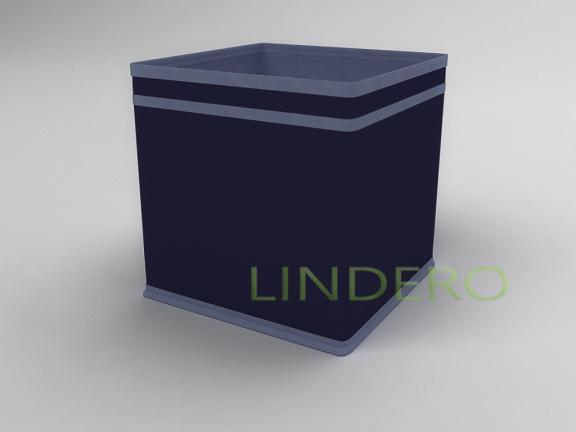 фото: Коробка — куб (жёсткий) 22х22х22см (Синий) [1740]