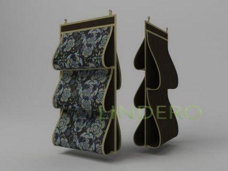 фото: Кофр для сумок, двусторонний, 5 карманов, 40х70см (Прованс) [1309]