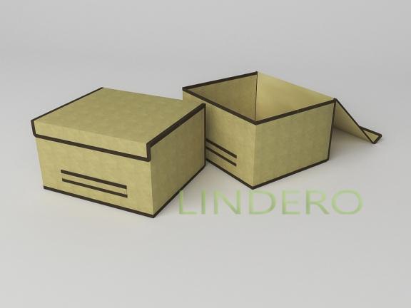 фото: Короб для хранения (жесткий) 35х30х20см (Классик бежевый) [1442]