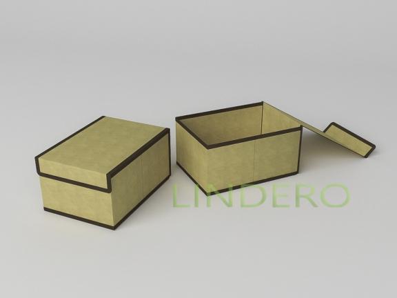 фото: Короб для хранения (жесткий) 20х27х14см (Классик бежевый) [1444]