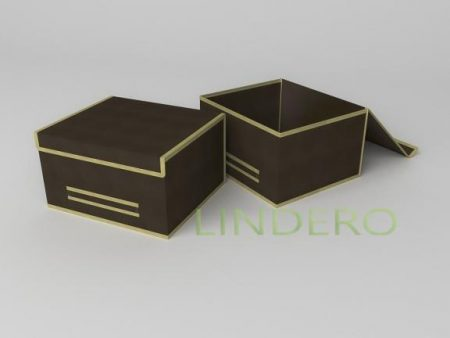 фото: Короб для хранения (жесткий) 35х30х20см (Классик коричневый) [1542]