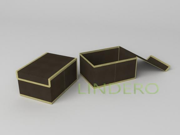 фото: Короб для хранения (жесткий) 20х27х14см (Классик коричневый) [1544]
