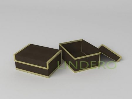 фото: Короб для хранения (жесткий) 23х17х10см (Классик коричневый) [1545]