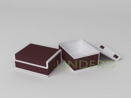 фото: Короб для хранения (жесткий) 23х17х10см (Классик Бордо) [1645]