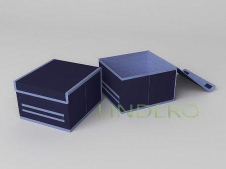 фото: Короб для хранения (жесткий) 25х27х17см (Классик Синий) [1743]