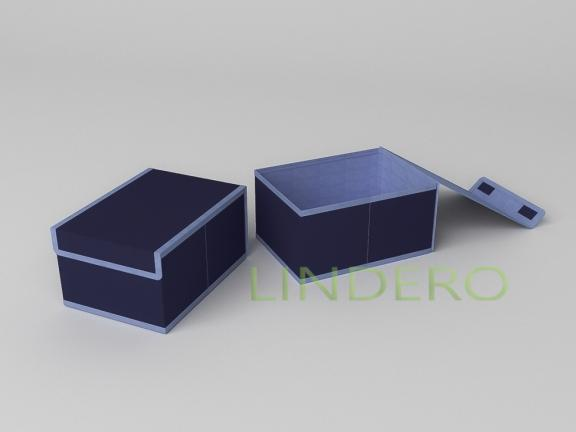 фото: Короб для хранения (жесткий) 20х27х14см (Классик Синий) [1744]