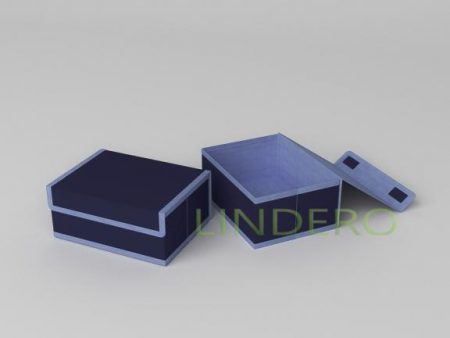 фото: Короб для хранения (жесткий) 23х17х10см (Классик Синий) [1745]