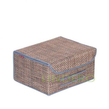 фото: Коробка для хранения с крышкой 35х28х18 ВИНИЛ (гол.) [BO-021]