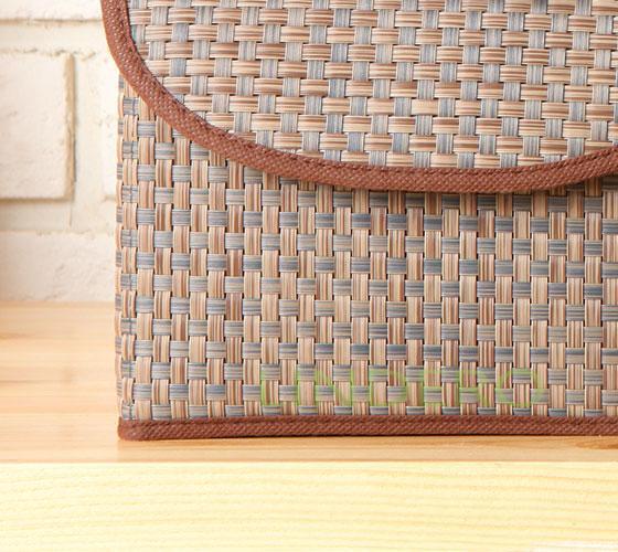 фото: Коробка для хранения с крышкой 21х26х15 ВИНИЛ (беж.) [BO-012]