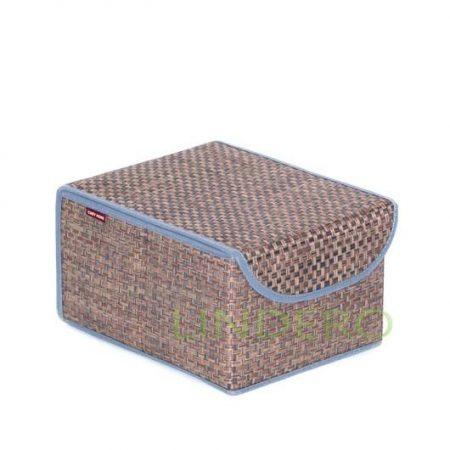 фото: Коробка для хранения с крышкой 21х26х15 ВИНИЛ (гол.) [BO-011]