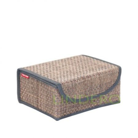 фото: Коробка для хранения с крышкой 23х17х10 ВИНИЛ (гол.) [BO-051]