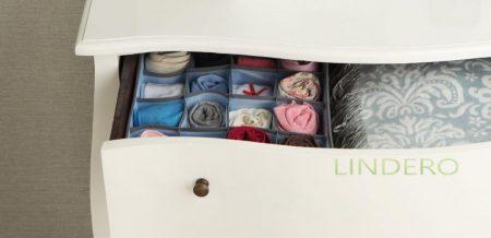 фото: Органайзер для носков,чулок, колготок, 16 ячеек 35х35х10 ВИНИЛ (гол.) [OR-051]