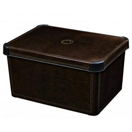 фото: Ящик для хранения Stockholm Leather, 6 л [04710-D12]