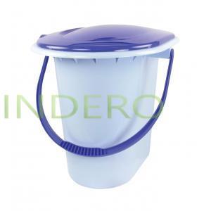 фото: Ведро-туалет 18л. (голубой)(уп.10) [dm1316]