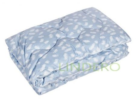 """фото: Одеяло классическое """"Лебяжий пух"""" ткань тик, наполнитель лебяжий пух  [48622]"""