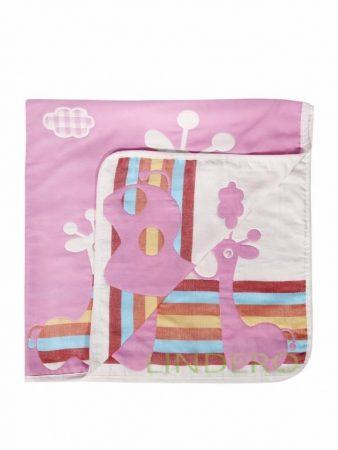 фото: Плед многослойный, 110*115, жираф розовый [BLK-A,110115]