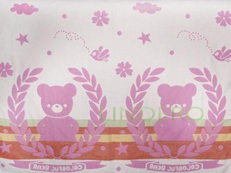фото: Плед многослойный, 110*115, мишка розовый [BLK-A,110115]