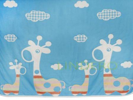 фото: Плед многослойный, 110*115, жираф голубой [BLK-A,110115]