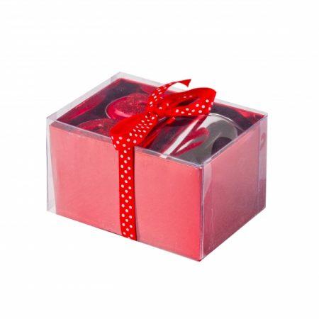 фото: Подарочный набор 2-х чайных свечей СЕРДЦЕ с подсвечником [GC11812]