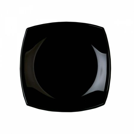 фото: Тарелка десертная КВАДРАТО черная 19см [H3670]