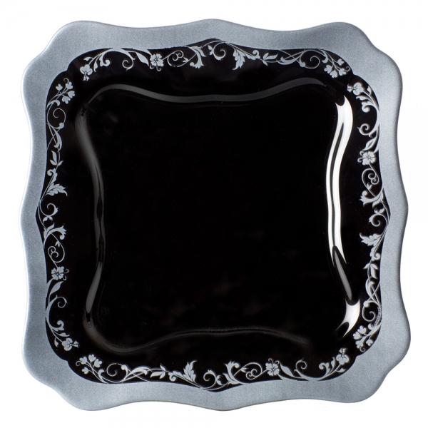 фото: Тарелка десертная ОТАНТИК СИЛЬВЕР БЛЭК 20.5см [H8400]